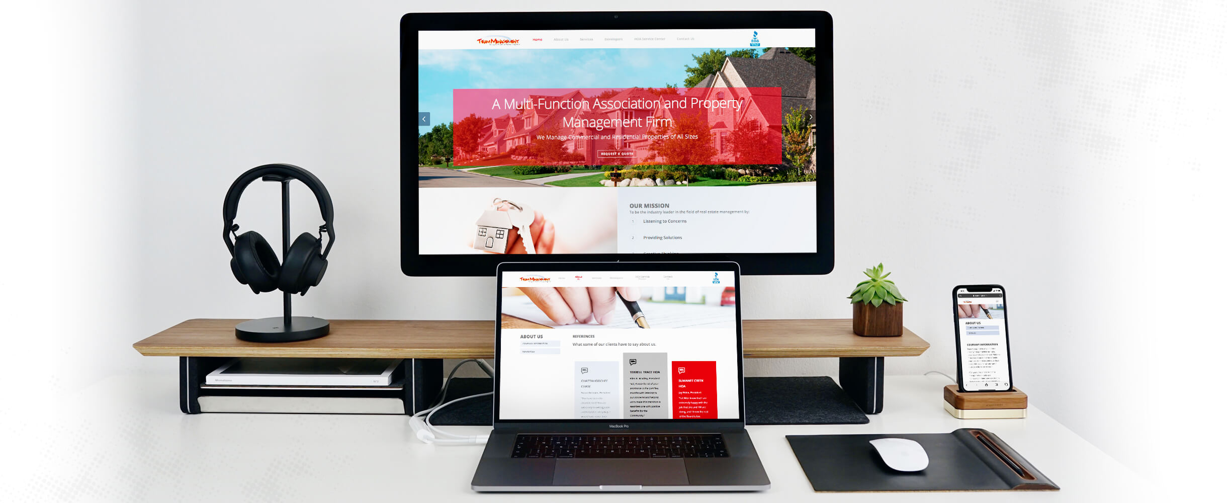 team management website images