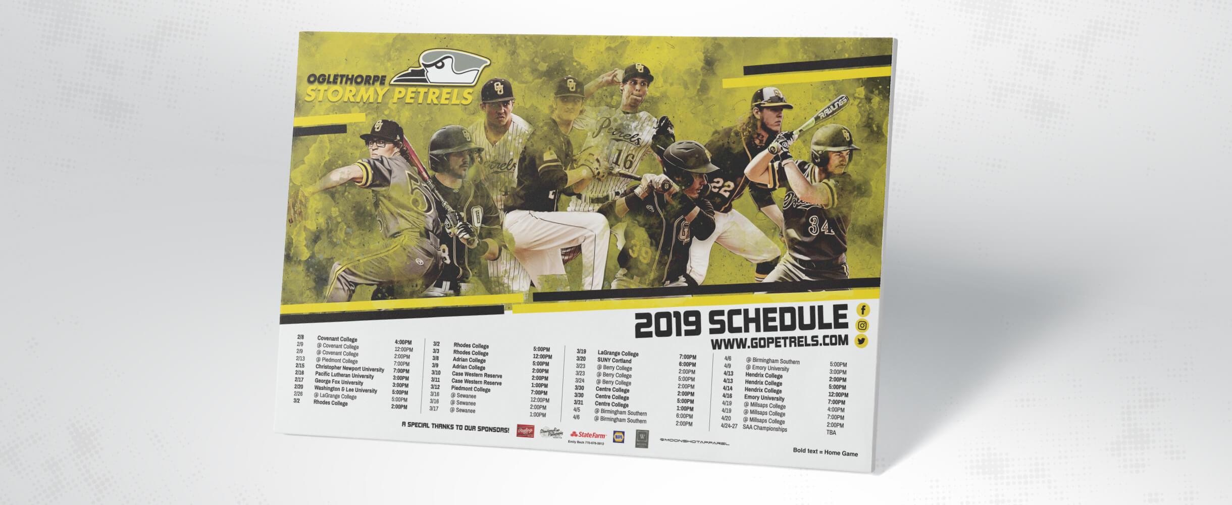 oglethorpe university baseball schedule poster
